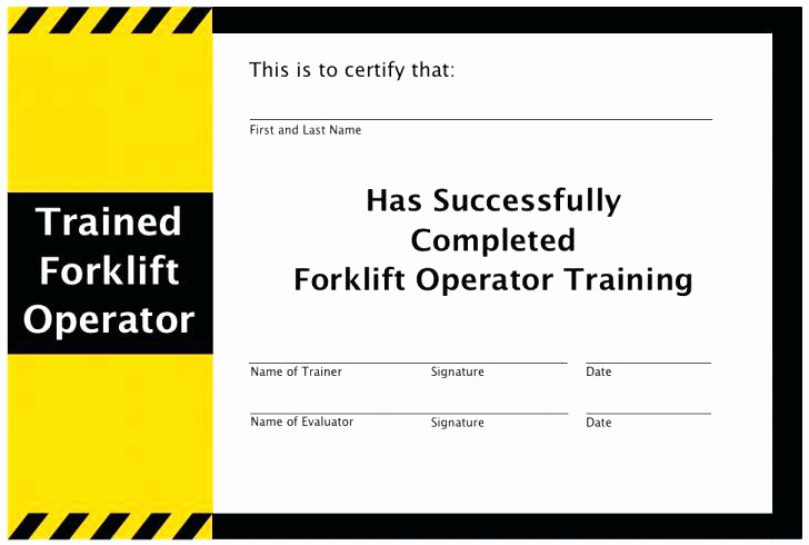 Forklift Certification Card Template Free Luxe Forklift Licence Template ? Lccorp