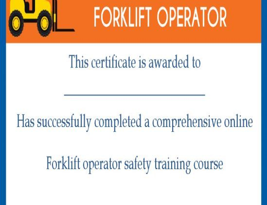 Forklift Certification Card Template