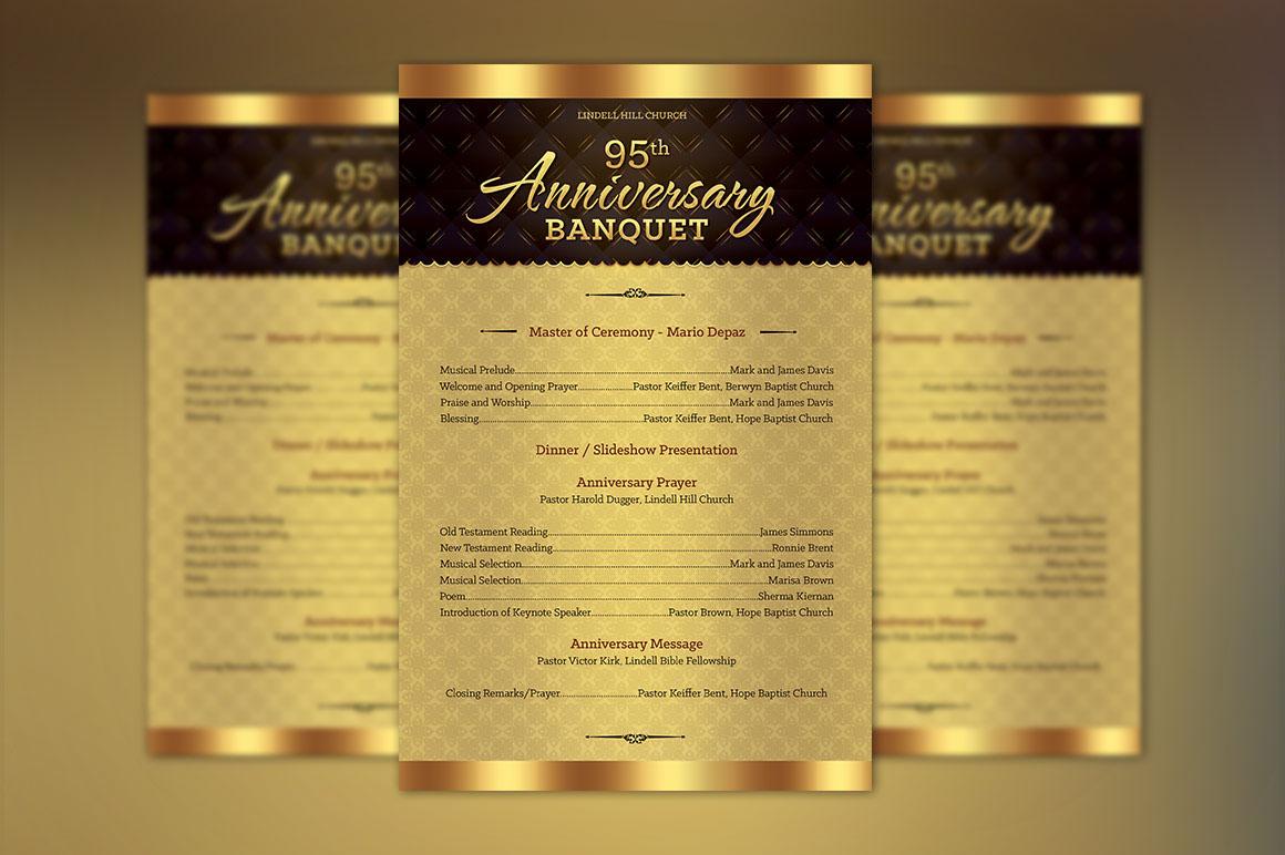 Free Anniversary Program Template