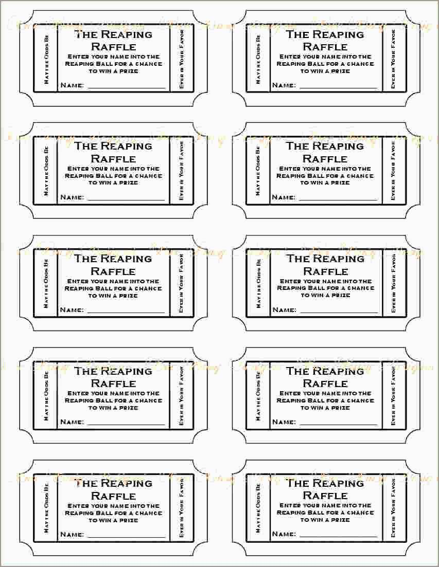 Car Wash Ticket Template Free Download Admirably 4 Printable Raffle Tickets