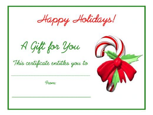 Free Christmas Gift Certificate Templates To Print