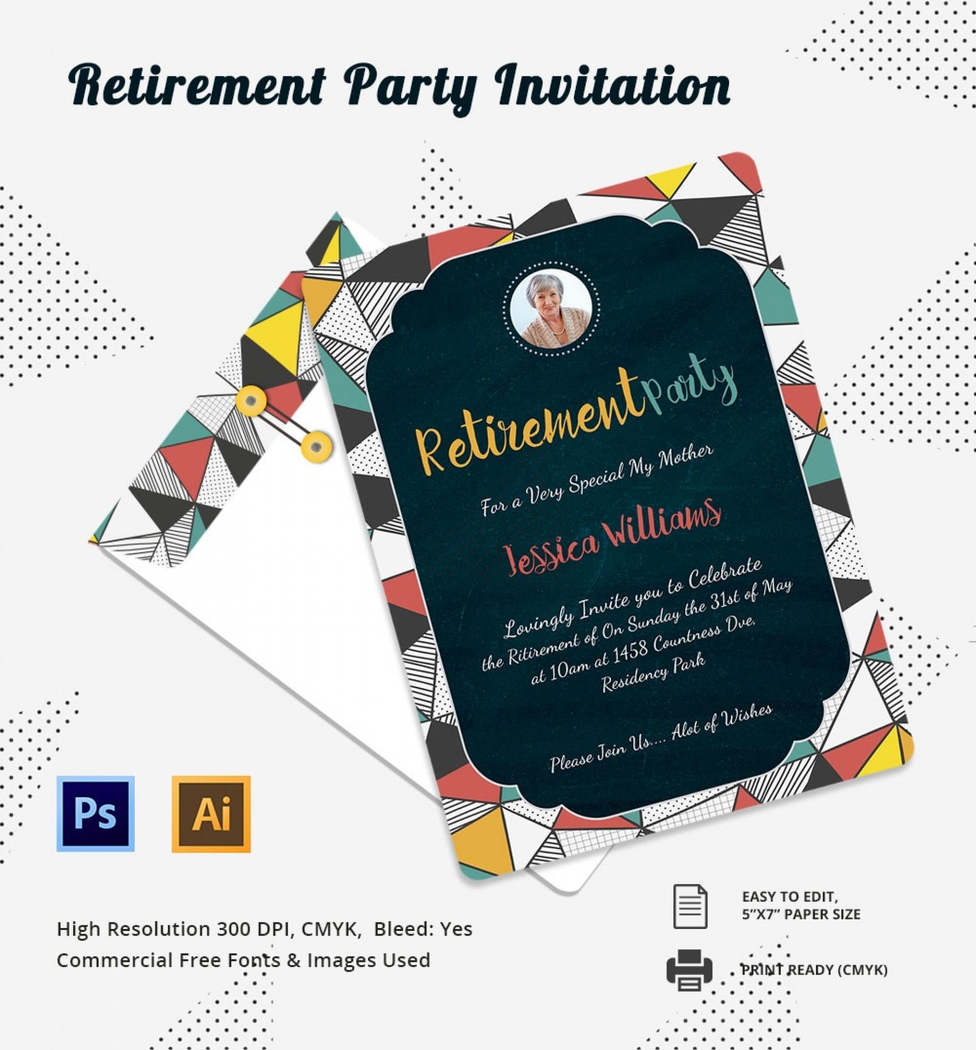 Free Downloadable Retirement Invitation Templates