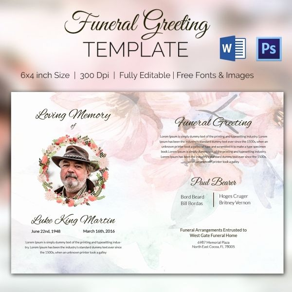 Free Funeral Invitation Template