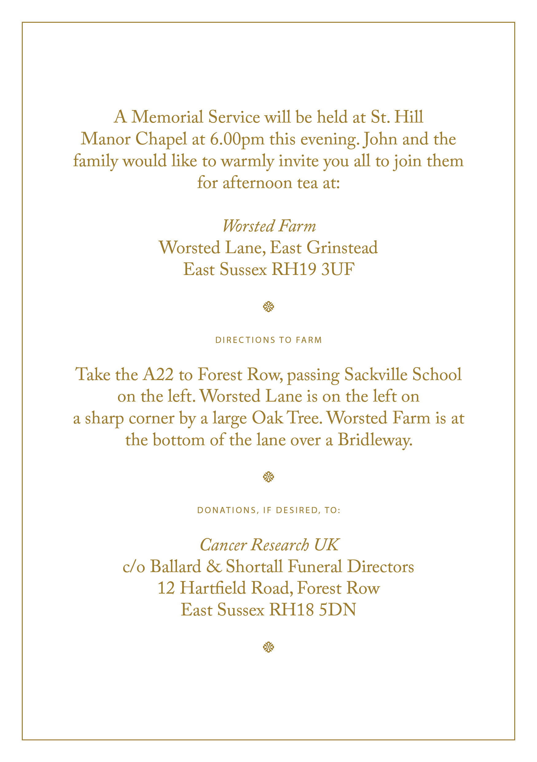 Free Funeral Invitation Templates Uk