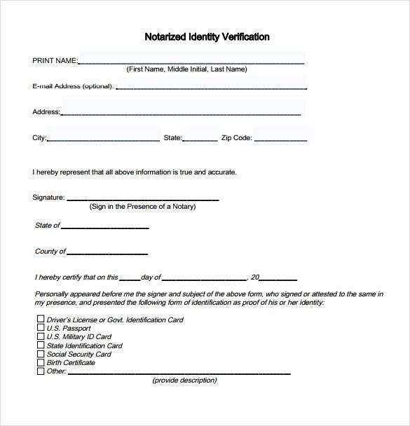 Birth Certificate Notary Form Wonderful Notary Letter Template Free Fresh 10 Sample Notarized