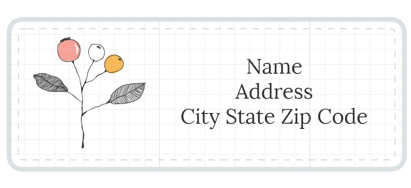 Free Online Address Label Templates