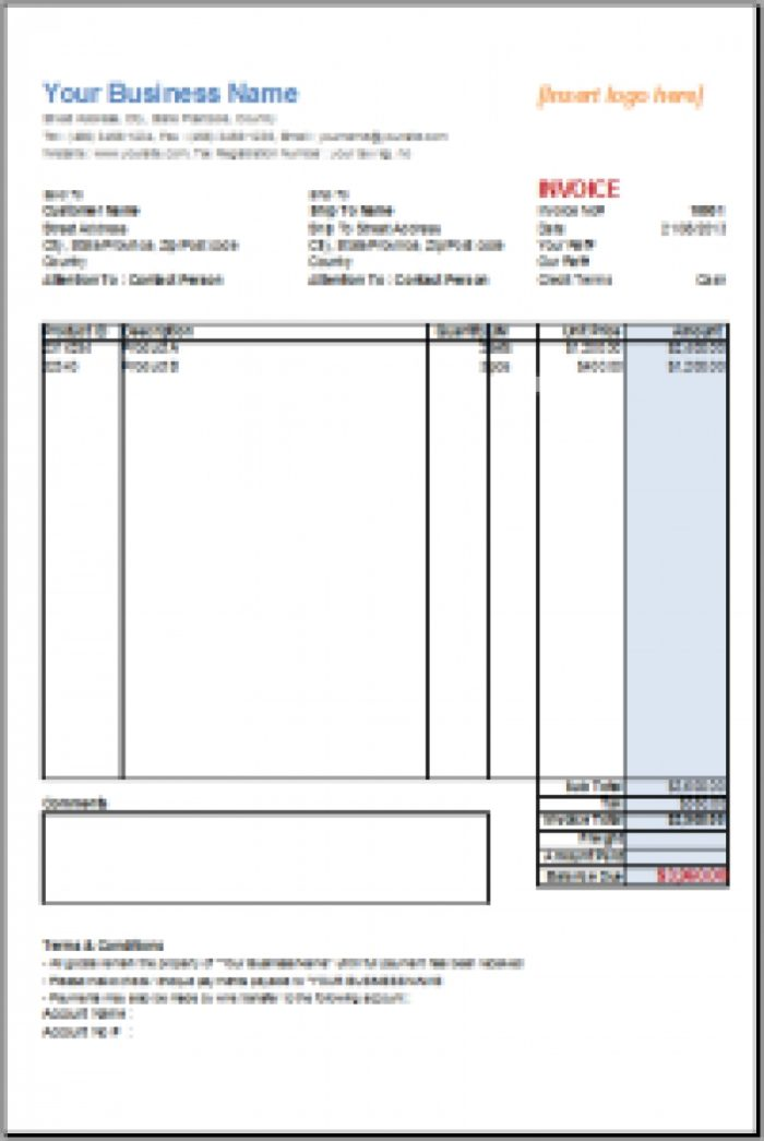 Free Open Office Invoice Template