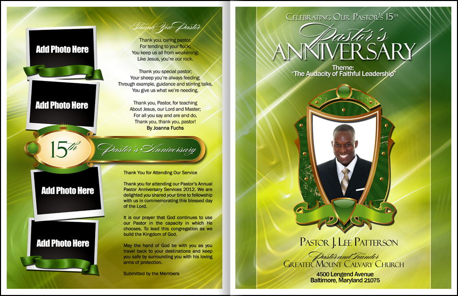 Pastor Anniversary Program Template Image In Vector Cliparts Category At Pixy.org