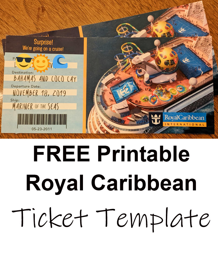 Free Printable Cruise Ticket Template