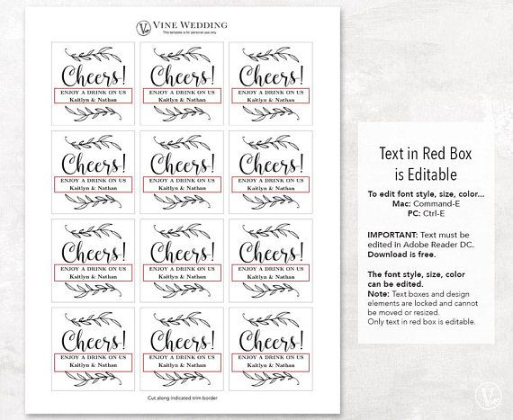 Free Printable Drink Tickets Template
