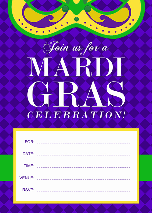 Printable Mardi Gras Invitation Template For Free Printable Mardi Gras Invitation By Purecostumes