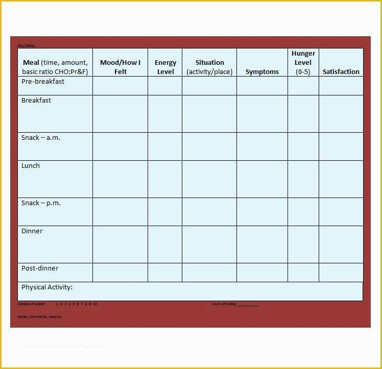 Headache Diary Template Free Of Printable Migraine Diary Template Baskanai