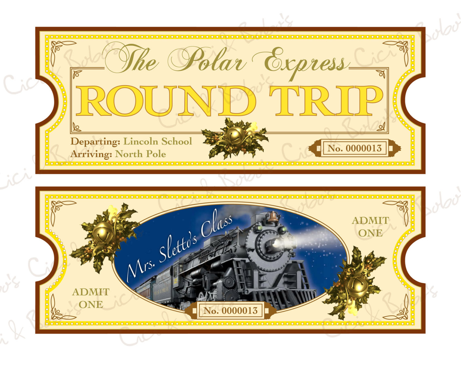 Free Printable Template Free Polar Express Tickets