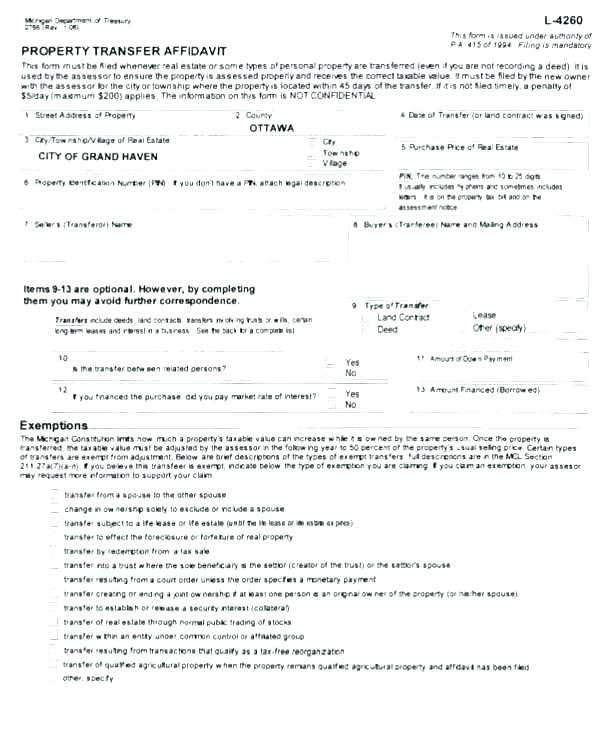 Free Quit Claim Deed Template Florida