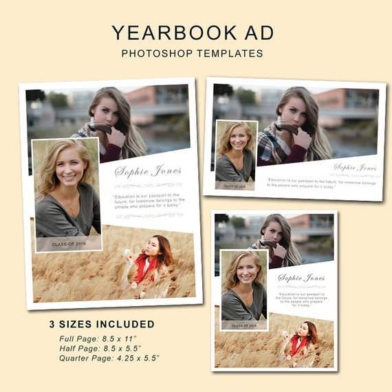 Full Page Senior Yearbook Ad Templates