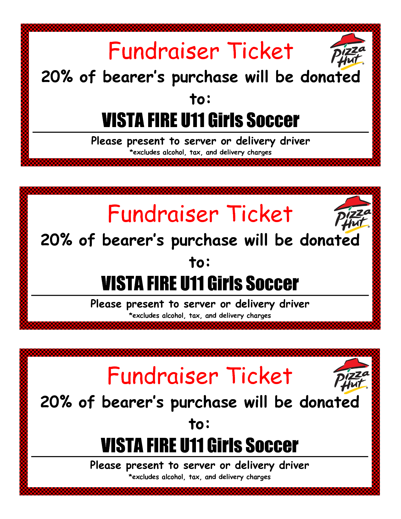 Fundraiser Ticket Template