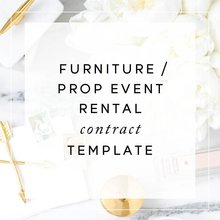 Furniture Rental Contract Template