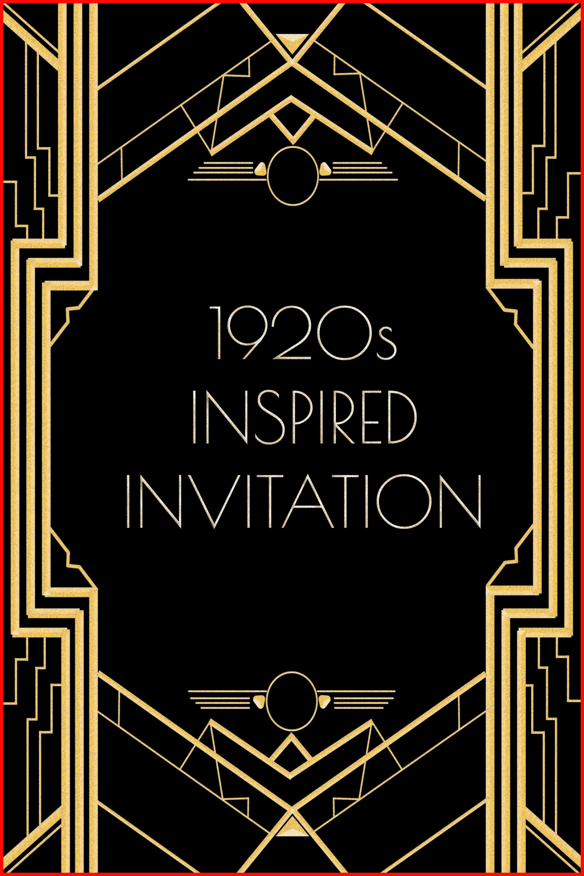 Gatsby Invitation Template Free Download