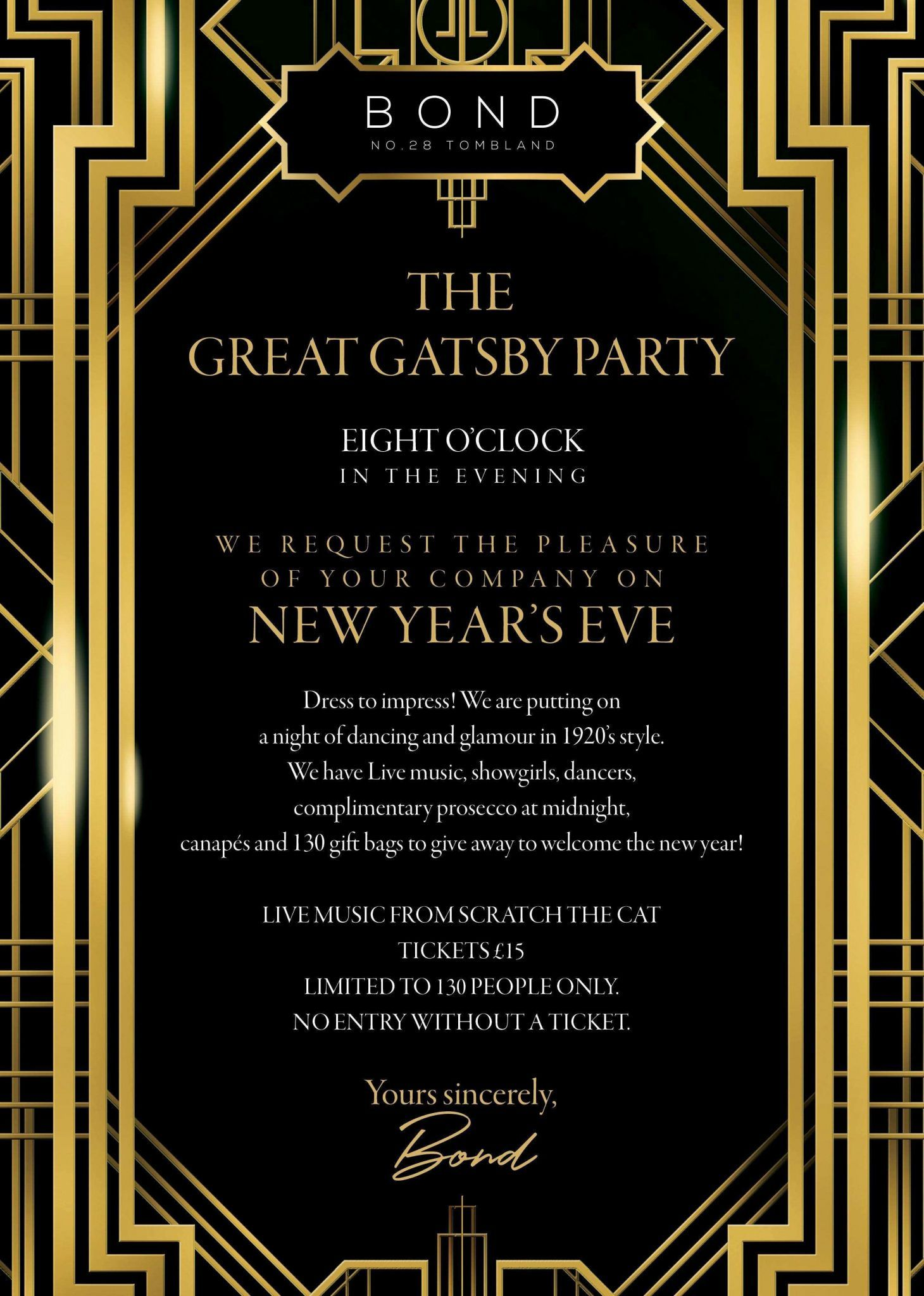 Gatsby Invitation Template Free