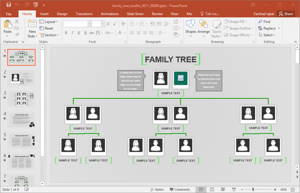 Genealogy Tree Template Excel