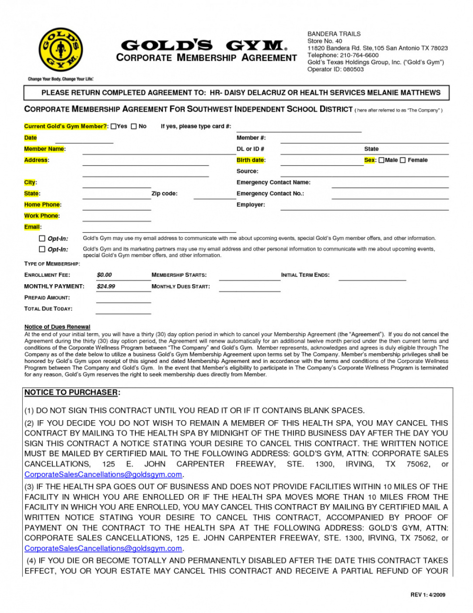 Free Fitness Membership Agreement Template Lostranquillos Gym Membership Contract Agreement And Sample