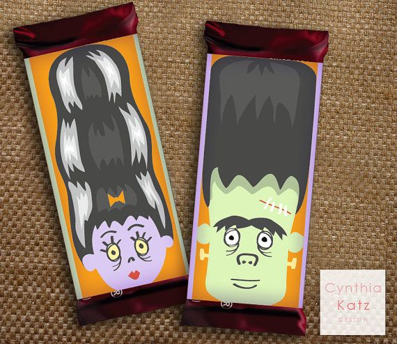 Hershey Bar Halloween Wrapper Template