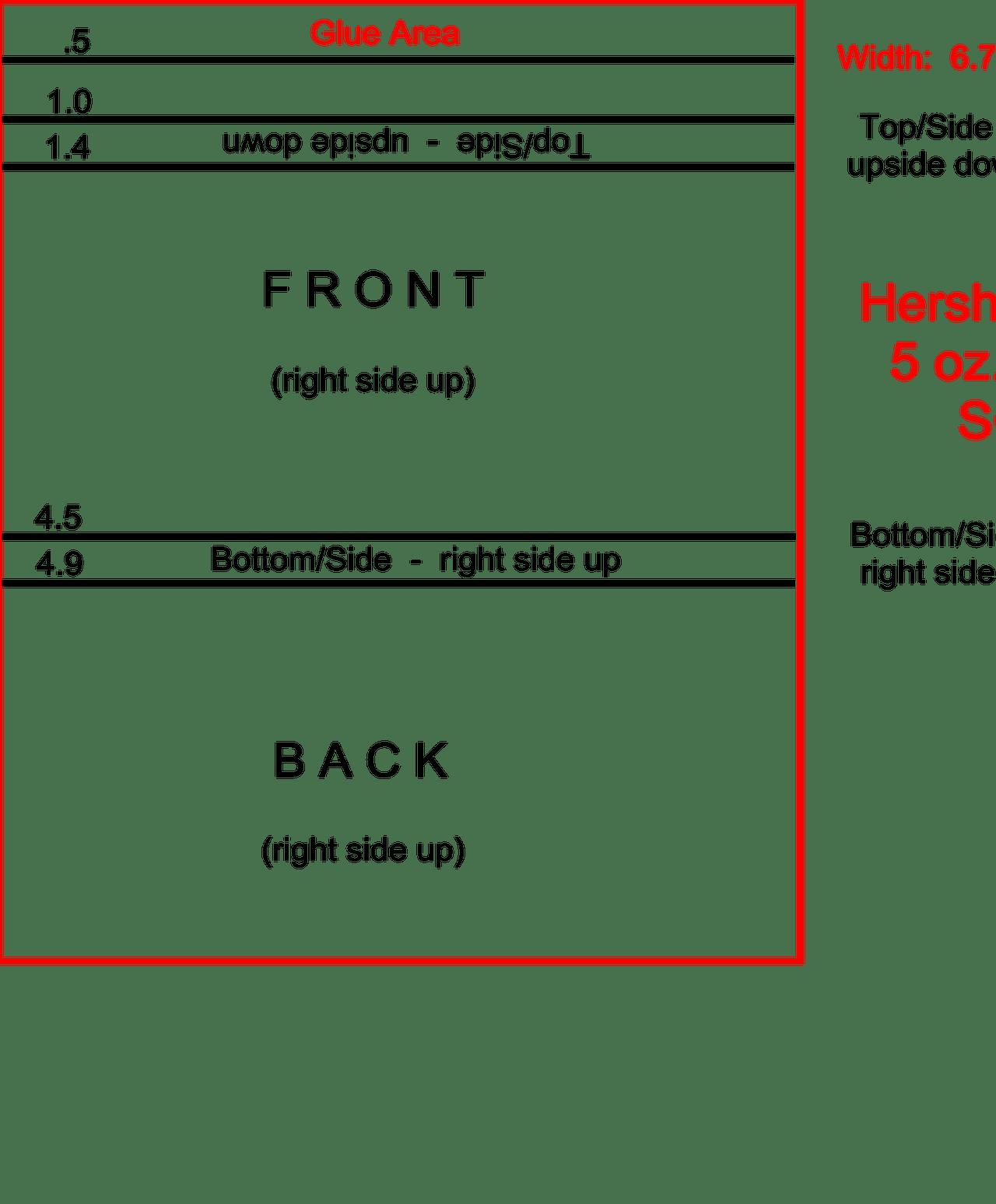 Hershey Bar Wrapper Template Free