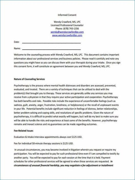 Hipaa Consent Form Template