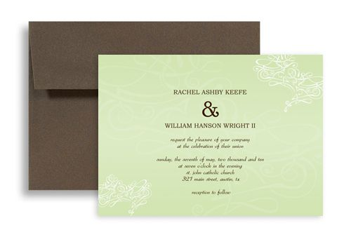Horizontal Wedding Invitation Templates