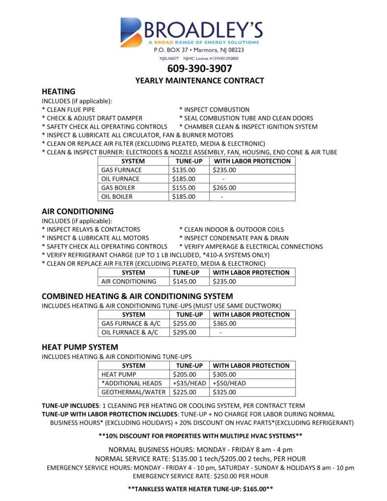 Hvac Service Contract Template Free