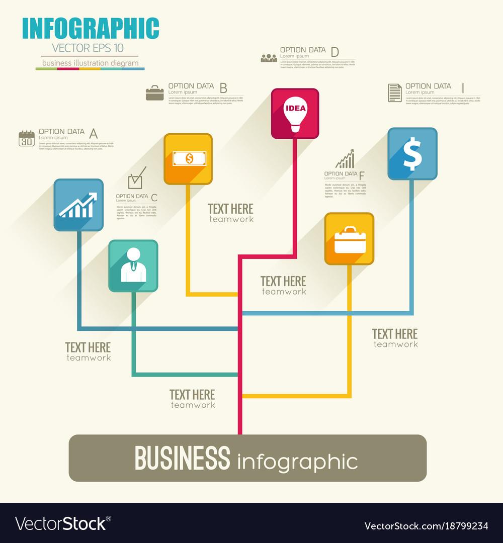Web Infographic Flowchart Template
