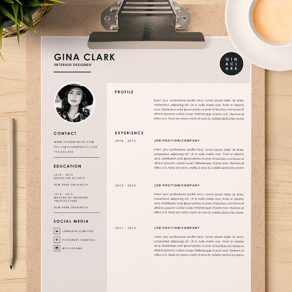 Interior Design Resume Template Word