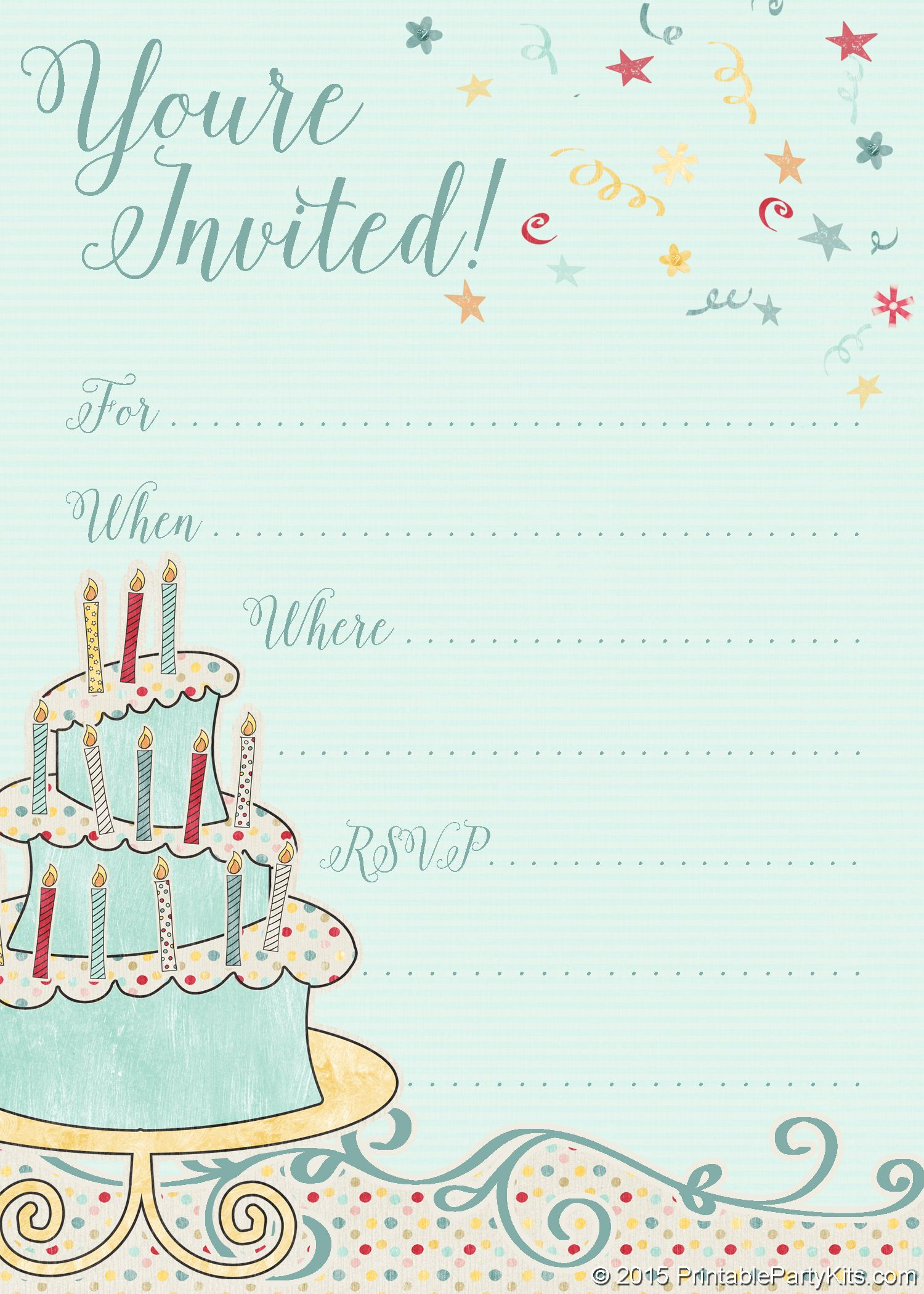 Invitation Templates For Birthday Free Download