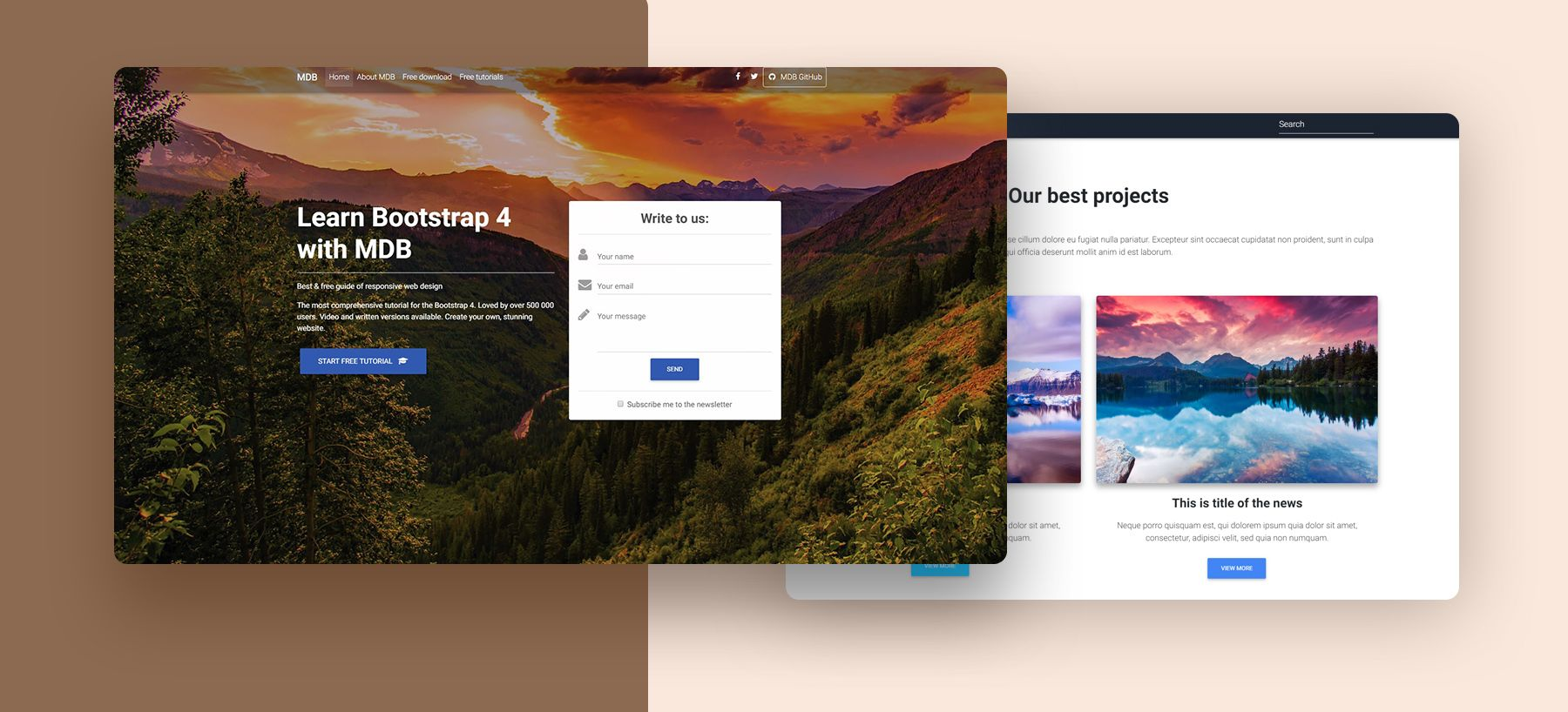 Landing Page Bootstrap 4 Templates