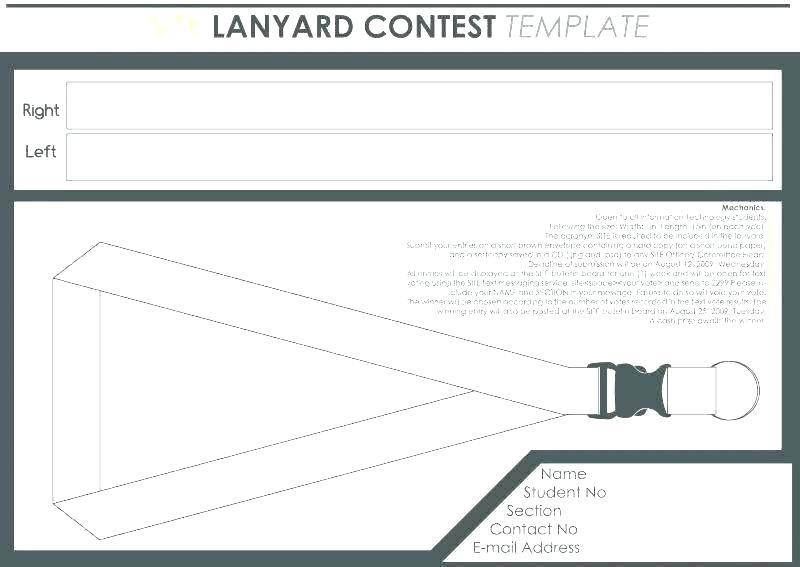 Lanyard Design Template Blank