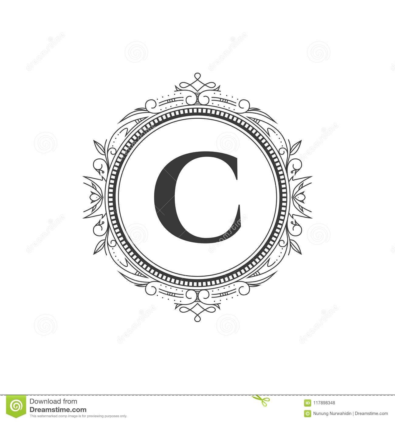 Letter C Monogram Template