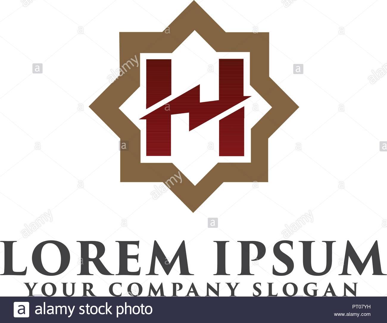 Letter H Monogram Template