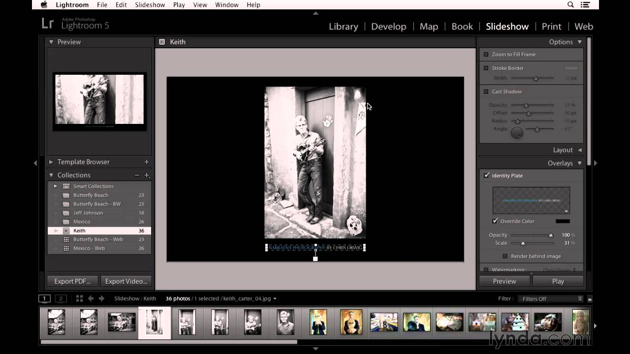 Lightroom Slideshow Templates