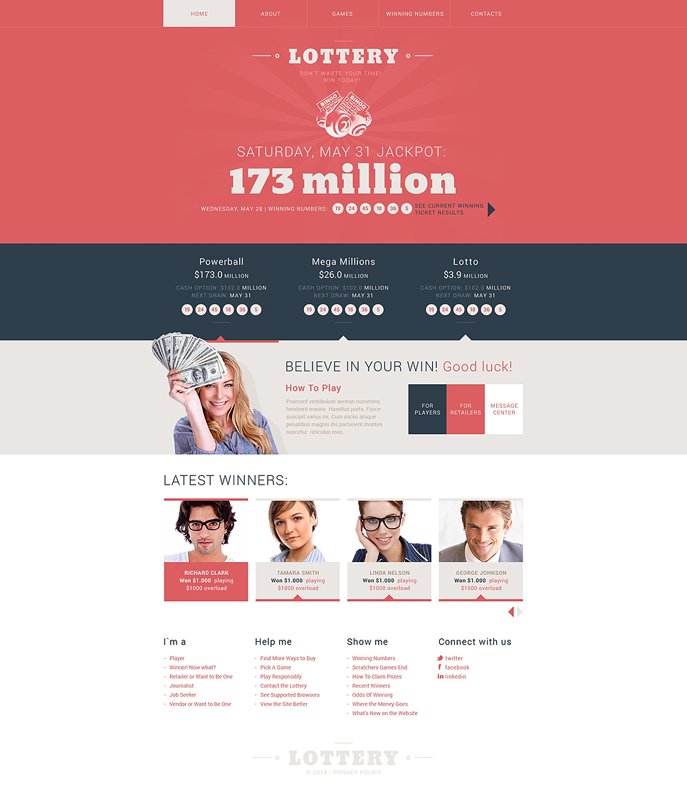 Lottery Website Template