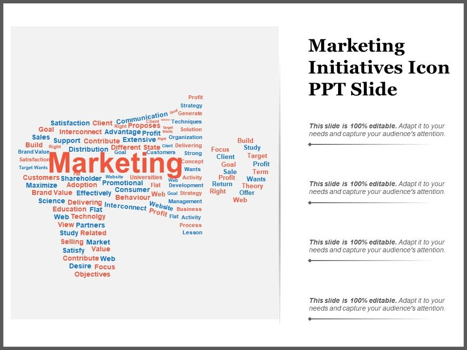 Marketing Initiatives Template