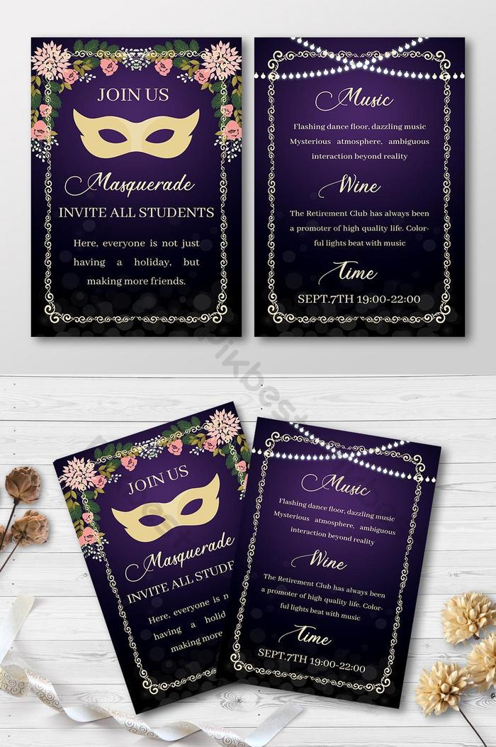 Masquerade Invitation Template Free Download