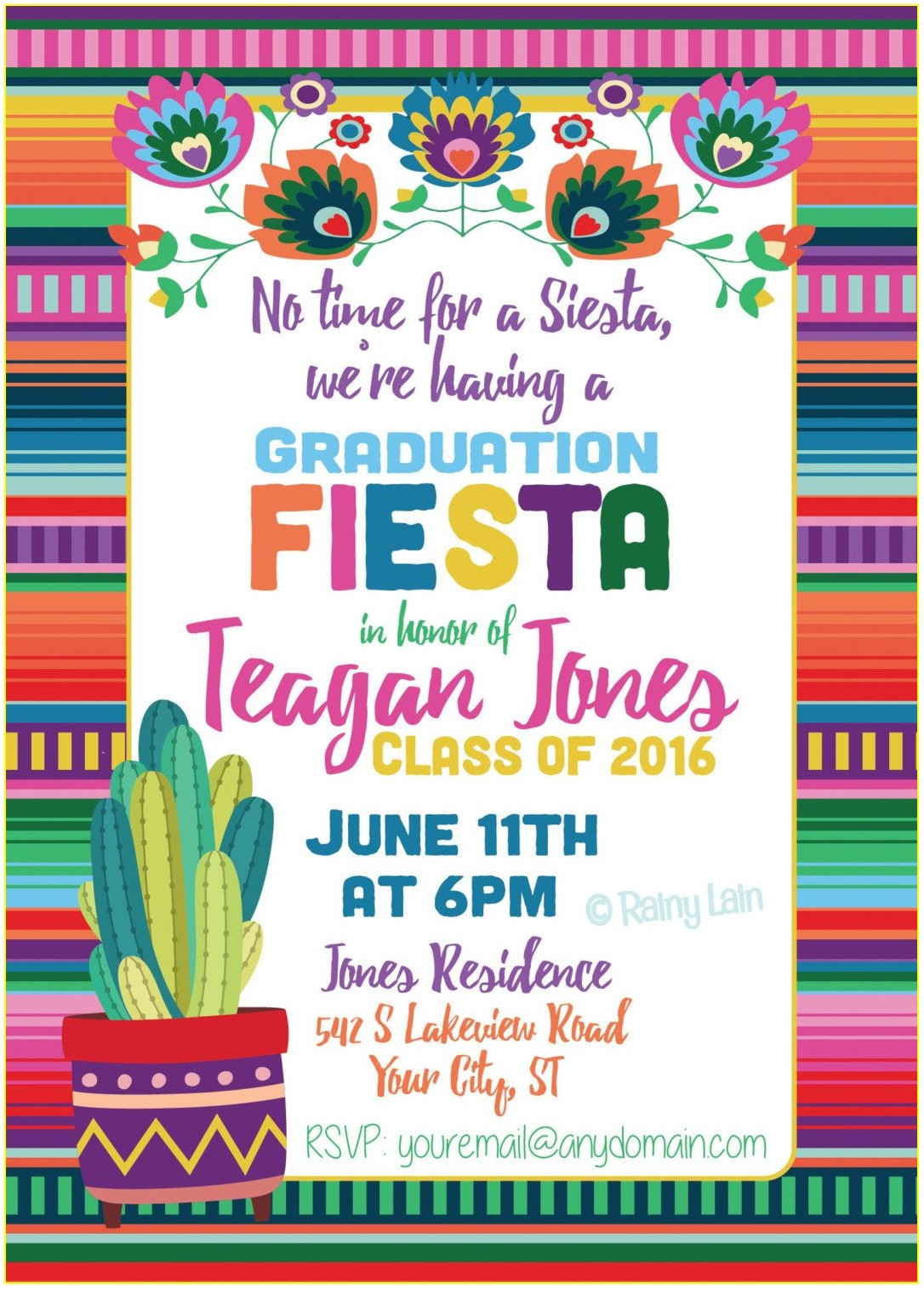 Mexican Fiesta Invitation Template Free