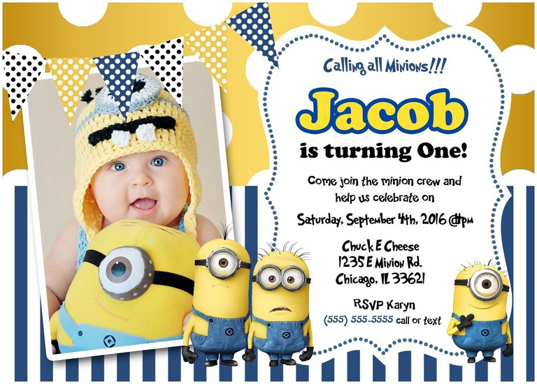 Minion Invitation Card Template