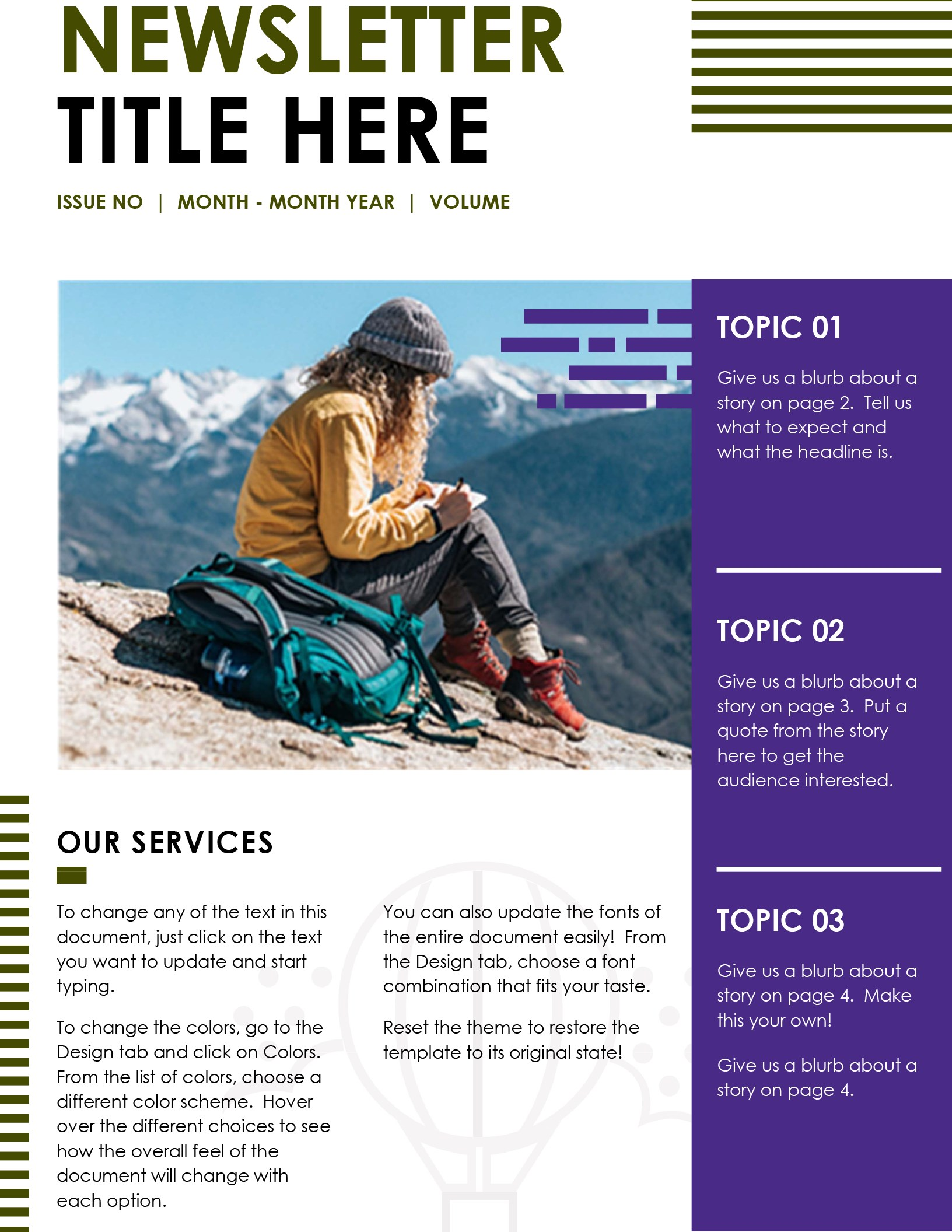 Ms Word Newsletter Template Free