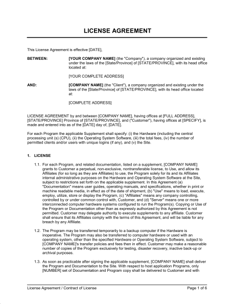 Music Licensing Contract Template
