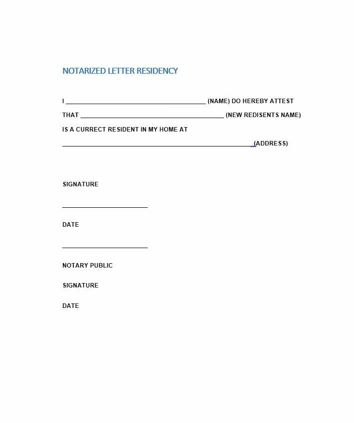 Notary Public Notary Letter Template