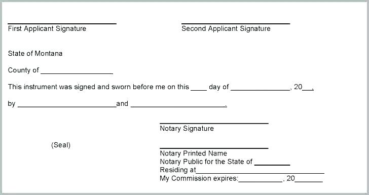 Notary Public Notary Signature Template