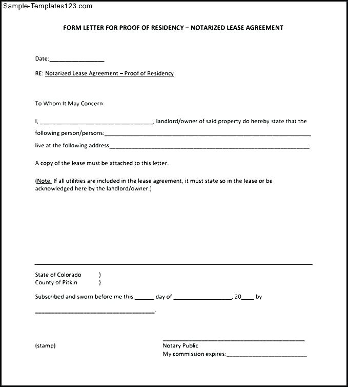 Notary Public Template