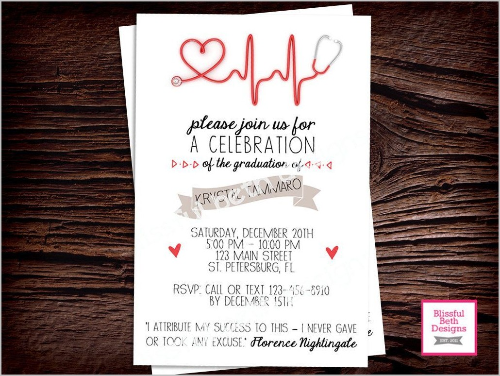 Nursing Graduation Invitation Templates