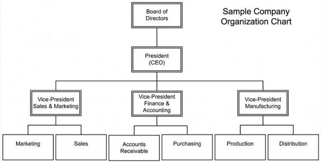 Organizational Chart Company Structure Template